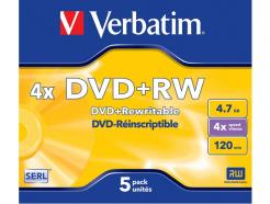 43229 KIT 5 DVD+RW 4.7GB/120' 4X VE