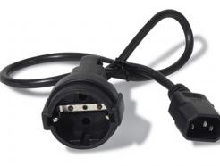 Pwr Cord, 10A, 230V, C14 to Schuko rec